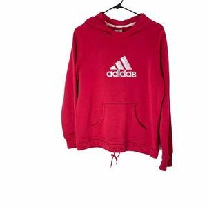 ADIDAS ORIGINALS RED LOGO HOODED Sweater Medium